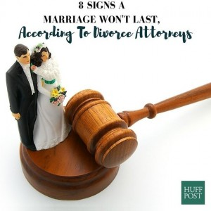 8 Signs A Marriage Won't Last