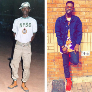 Adekunle Gold shares throwback photo of himself as a youth corper