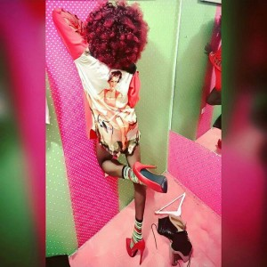 Denrele Pictured In Abeokuta Wearing Ladies' Cloth And High Heel Shoes