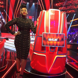 Photos: Waje Sizzles In Sheer Bejewelled Dress For The Voice