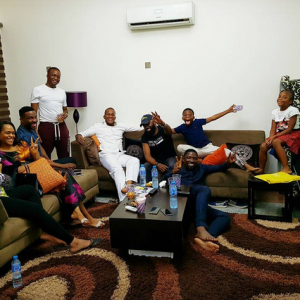 Tolu and Tunde Demuren host Ebuka, Noble And Their Wives, Cynthia And Chioma