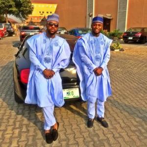 PHOTO: Iyanya And His Manager, Ubi Slay In Agbada