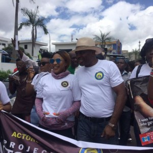 Photos : Tonto Dikeh & Uche Ogbodo Lead Protest Against Human Trafficking In Abuja