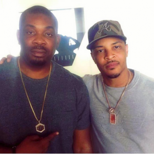 Donjazzy Pictured With US Rapper T.I