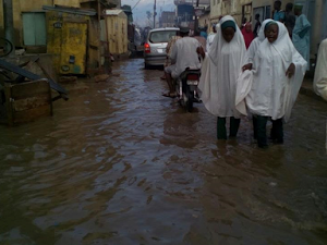 PHOTOS: Floods Take Over Some Roads In Kano
