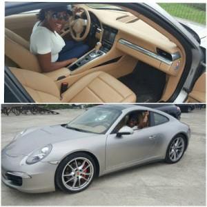 Celebrity Blogger Linda ikeji Sis gets a Porsche Carrera as Birthday gift (photos)