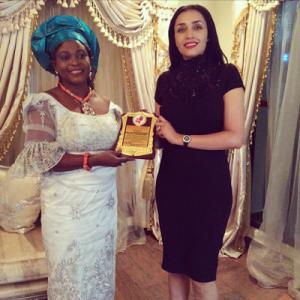 Photos : Iara Oshiomole Receives Excellence Award