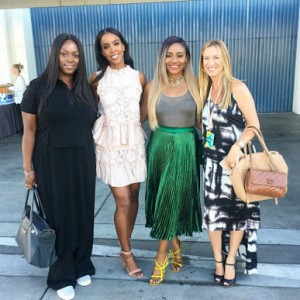 Fashionista Bisola Kola-Daisi Pictured With Kelly Rowland At Beautycon