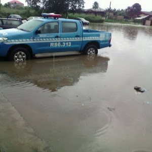 Photos : Flood Takes Over FRSC Command In Akwa Ibom After Heavy Rainfall