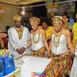 Lovely Photos: Identical Twin Brothers Marry Identical Twin Sisters In Ghana