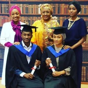President Buhari's Children Yusuf & Zahra Graduate From College (Photos)