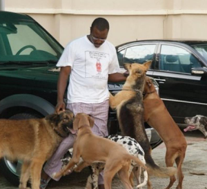 Ali Baba Shows Off His Pet Dogs Named After (OBJ, Abacha, IBB, Obama)