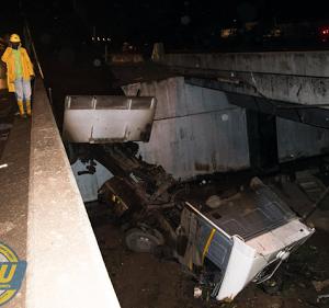 PHOTOS: Trailer Falls Off Berger Bridge In Lagos