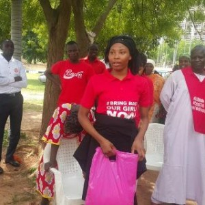 Photos: Rescued Chibok Girls Attend BBOG March