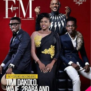 The Voice Nigeria Judges, Timi Dakolo, Waje, Patoranking & 2face Idibia Cover Exquisite Magazine