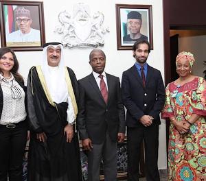 Photos: VP Osinbajo Receives Kuwait's Ambassador To Nigeria, Abdulaziz Al-sharrah