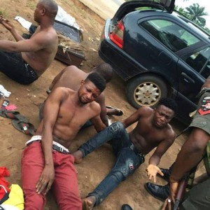 Yahoo Boys Caught With Used Girls Panties, Bras, Wigs As Ritual Items In Delta (Pics)