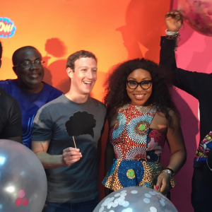 Rita Dominic,Basketmouth,Kunle Afolayan Meet Mark Zukerberg (Photos)