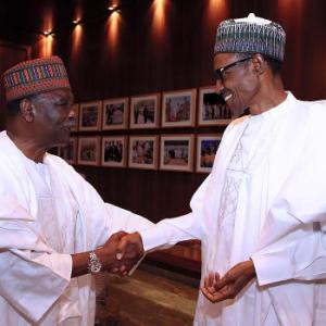 Photos: President Buhari Receives Gen. Yakubu Gowon At The State House