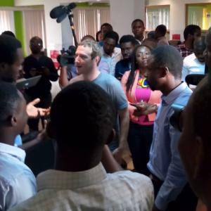 Facebook Founder Mark Zuckerberg In Nigeria (Photos)