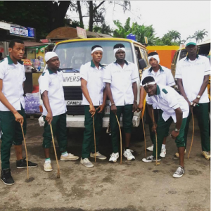 "Photos : Unilag Students Dress As ""Nurtw"" Officials To Celebrate Their Costume Day"