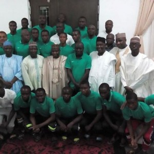 Photos: Nigeria's U-17 Golden Eaglets Pay Courtesy Visit To Governor Tambuwal