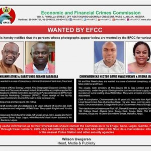 EFCC Declares Couple, 3 Others Wanted Over Fraud