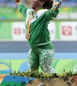 Rio Paralympics: Nigeria's Onye Lauritta Wins Gold In The Women's Shot Put F-40