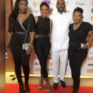 Photos: Uche Jombo, Ufomma McDermott And Omoni Oboli Rock Jumpsuit To Movie Premiere
