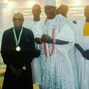 Ooni Of Ife Honours 2face Idibia As An Ambassador Of Peace