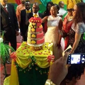 See the Customized Cake Used by Pro-Biafran Couple at their Wedding (Photo)