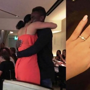 Footballer Emmanuel Emenike Proposes To Ex Beauty Queen, Iheoma Nnadi (Photos)