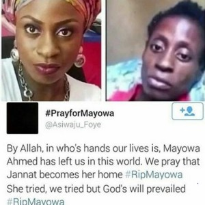 Mayowa Ahmed Buried In South Africa
