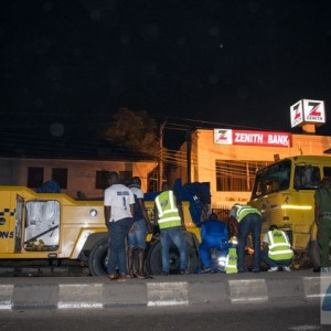 Truck Crushes Man To Death Near Mushin Area Of Lagos (Photos)