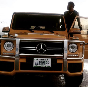 Photo: Super Eagles Player Aaron Samuel Customizes His New G-Wagon