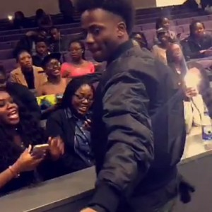 Photos: Korede Bello In A University Class In London