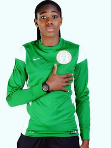 Nigerian female footballer, Asisat Oshoala shows off Louboutin & Zanotti sneakers