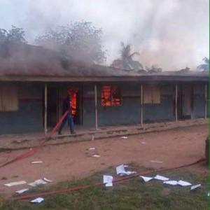 Oyo Secondary Students Set School On Fire Over Massive Failure (Pics)
