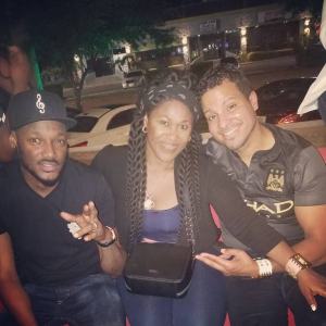 Uche Jombo And Hubby Hang Out With 2face Idibia In Houston | Photos