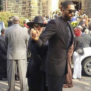Khloe Kardashian & her man Tristan Thompson spotted at a funeral