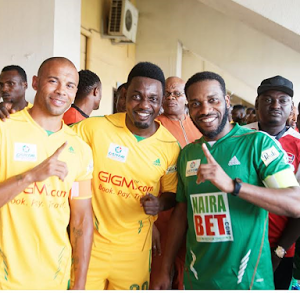 Stars , Celebrities Storms Teslim Balogun Stadium For A Trip To Jamaica Novelty Match