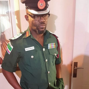 Actor Okey Bakassi Claps Back At Follower Who Called Him Out For His Military Outfit