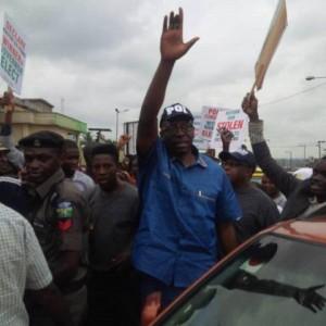 Pastor Osagie Ize-Iyamu Leads Peaceful Protest In Benin City