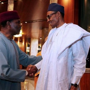 Photos: Pres. Buhari Receives Former President Yakubu Gowon At The State House