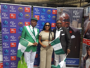 Photos : Clarion Chukwurah Shows Off Midriff At Nigeria's Independence Day Parade in New York