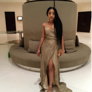 Photos : Mocheddah Stuns In Gold Dress