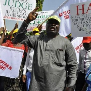 Photos: 50 NGOs stage protest against arrested judges in Abuja