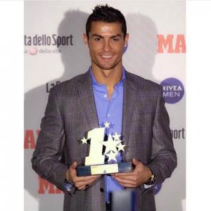 Photos: Cristiano Ronaldo Wins Champions League Best Player Award