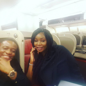 Toolz and hubby Tunde Demuren jet back to Nigeria (Photos)