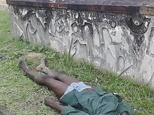 Photos: Body Of Man Found Dumped By The Roadside In Calabar